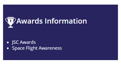 Awards info example