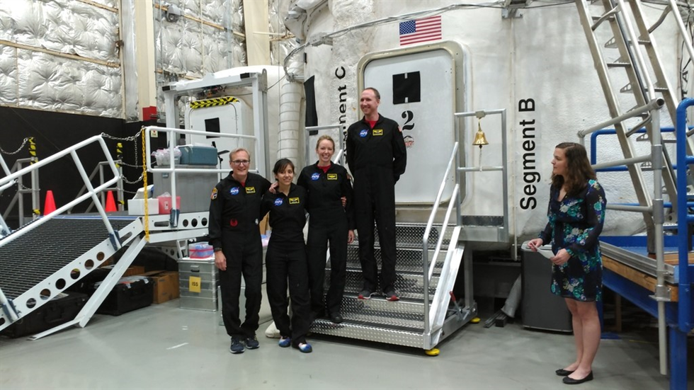 HERA crew moments before they enter their home away from home for the next 45 days. Image credit: Kevin Ramos