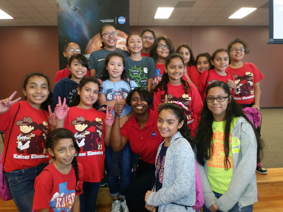 Annette Moore at Girls in STEM event