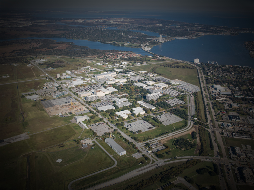 Aerial shot of Johnson Space Center