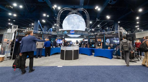 Moon is the Center of Attention for Exhibits, Discussion at SpaceCom