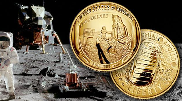 "Gold Coin for Apollo 11""s Golden Anniversary"
