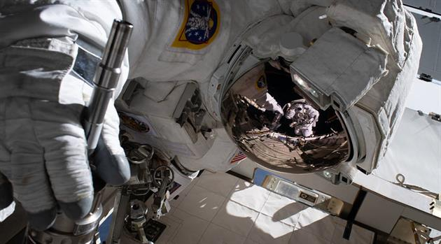 Third Spacewalk Featuring Meir and Koch Upgrades Power Systems