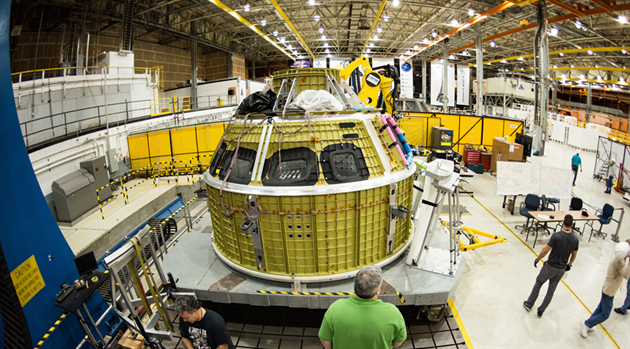 Engineers mark completion of Orion's pressure vessel