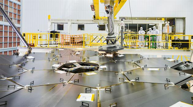 NASA's James Webb Space Telescope primary mirror fully assembled