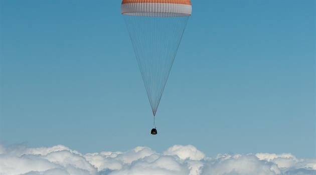 Three space station crew members return to Earth, land safely in Kazakhstan