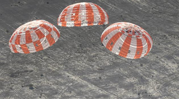 Orion parachutes measure up in high-pressure test