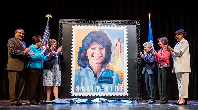 Sally Ride commemorated on a Forever stamp