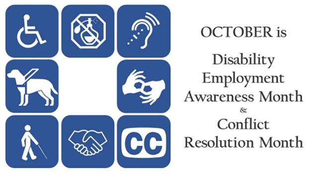 October: Disability Employee Awareness and Conflict Resolution Months