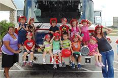 Local firefighters visit JSC's Child Care Center, educate kids on fire safety