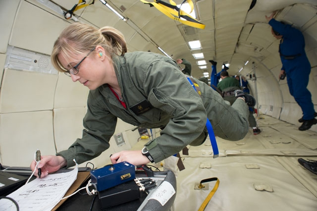 JSC Features - Lessons taught in the classroom come alive aboard reduced-gravity flights - https ...