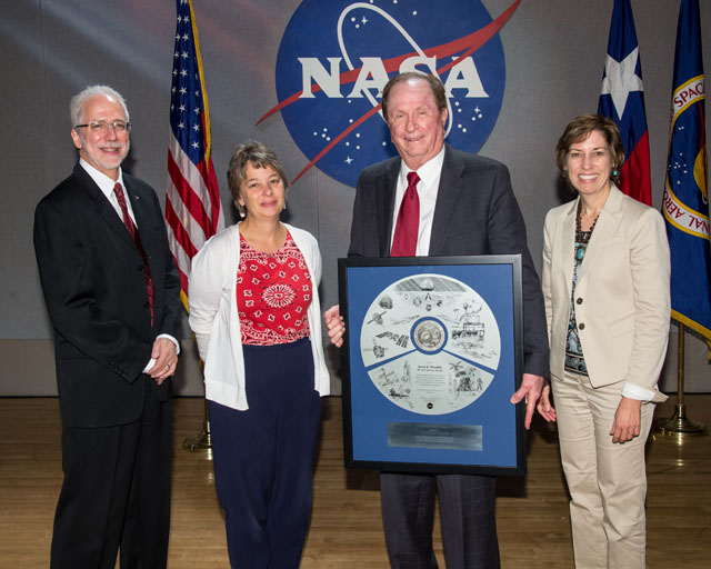 Jared Woodfill  recipient of NASA s 50 year service award  Image Credit   NASA Bill Stafford. JSC Features   Two centuries of combined experience   https