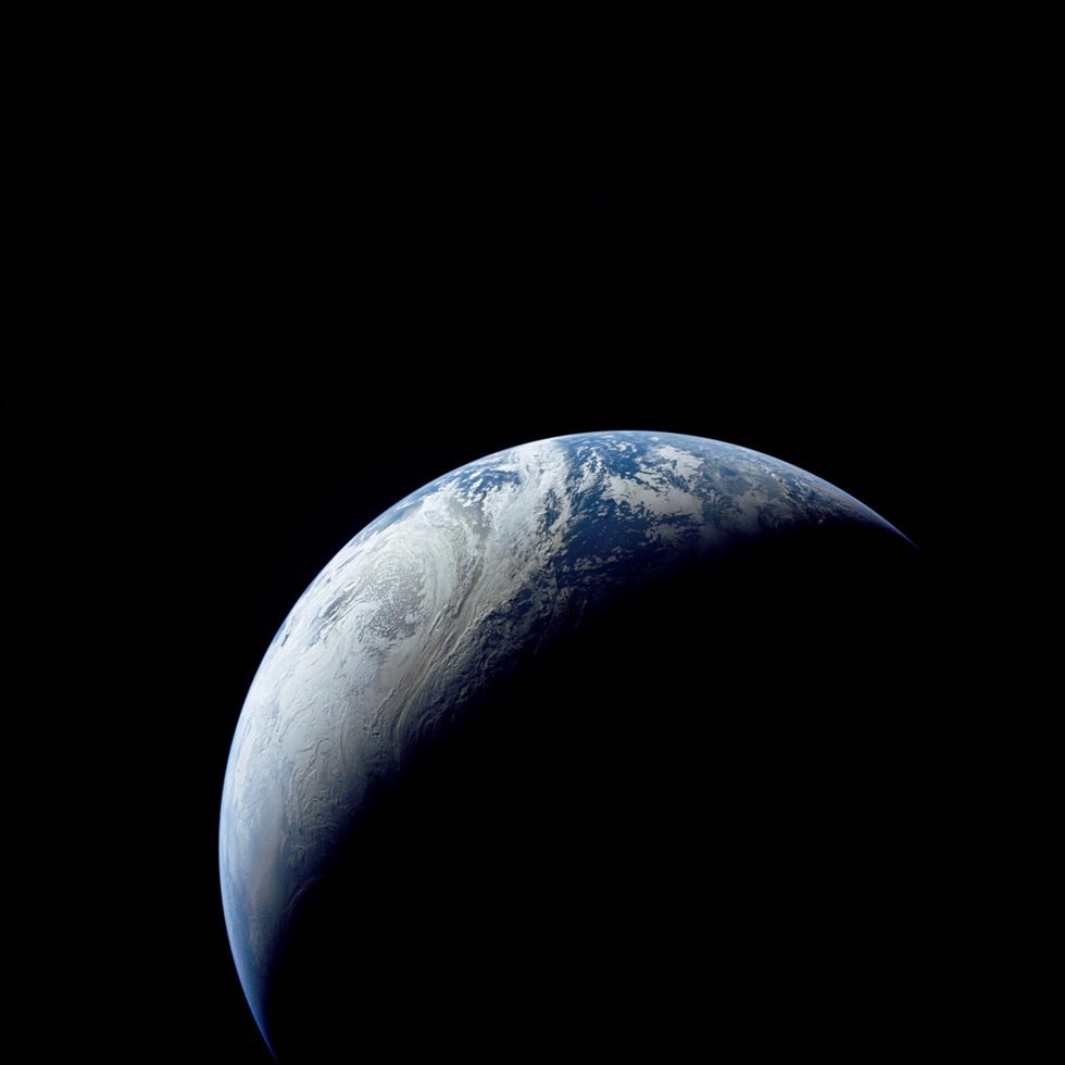 The Earth photographed by Apollo 4 from a distance of 11,214 miles in space. Image Credit: NASA
