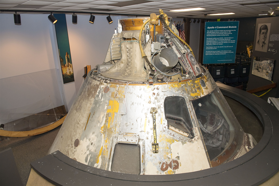 The Apollo 4 Command Module on display at NASA's Stennis Space Center. Image Credit: NASA