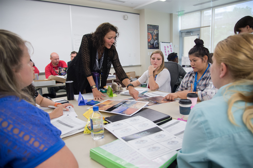 Minority University Research and Education Project  Educator Institutes engage pre-service teachers in student-centered classroom activities that use NASA assets and resources to enhance STEM instruction. Image Credit: NASA/Allison Bills