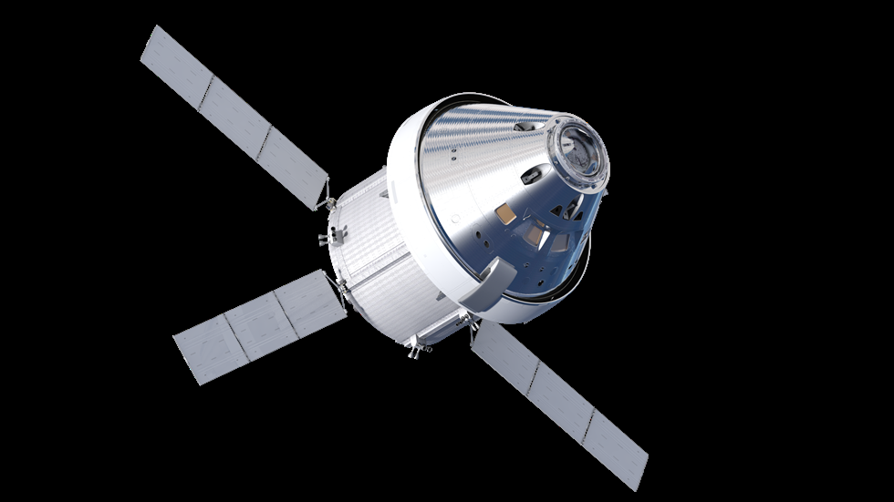 The Orion spacecraft will venture thousands of miles beyond the moon during Exploration Mission-1, its first mission atop NASA's Space Launch System rocket. Image Credit: NASA