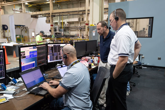 Team members train as flight controllers in preparation for the AA-2 launch next spring. Credit: NASA