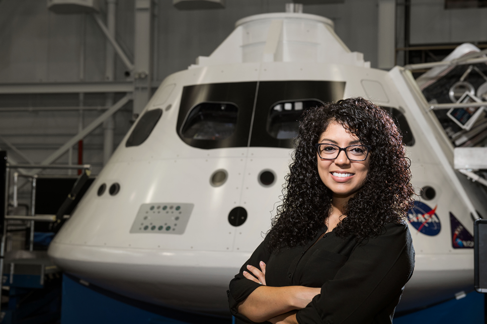 Christina Deoja served as the power systems lead for the AA-2 CSR team. Credit: NASA