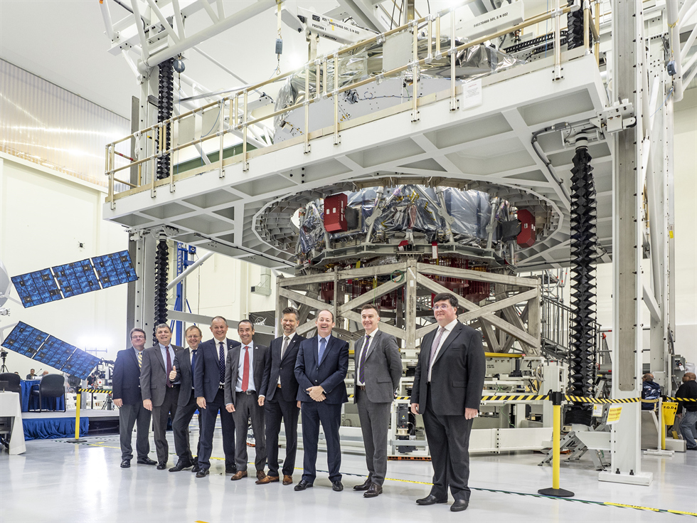 At Kennedy's Neil Armstrong Operations and Checkout Facility, representatives from NASA, ESA and their prime contractor Airbus Space welcome the newly-arrived European Service Module where it will begin integration with NASA's Orion spacecraft.