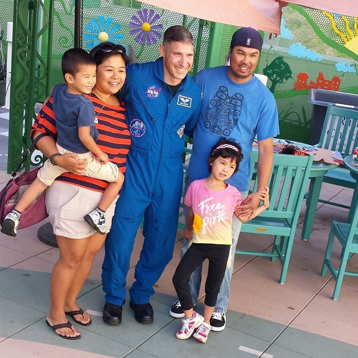 Astronaut Mike Hopkins Visits Patients At The Rady