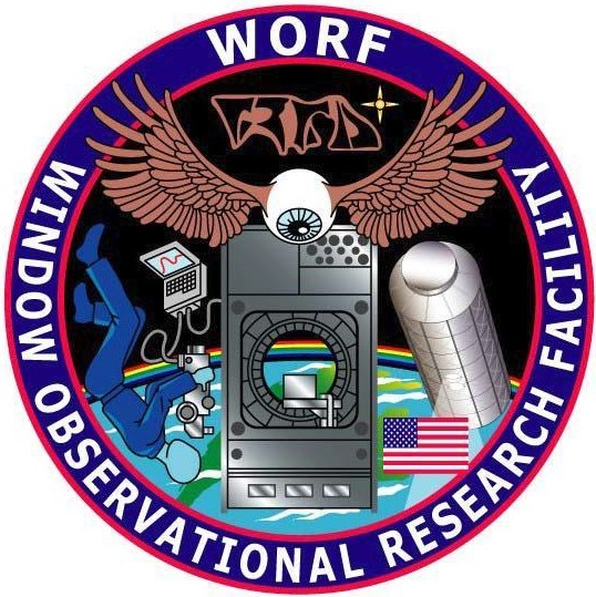 The patch for the WORF, including the Klingon writing just below the letters 'WORF.' Image Credit: NASA