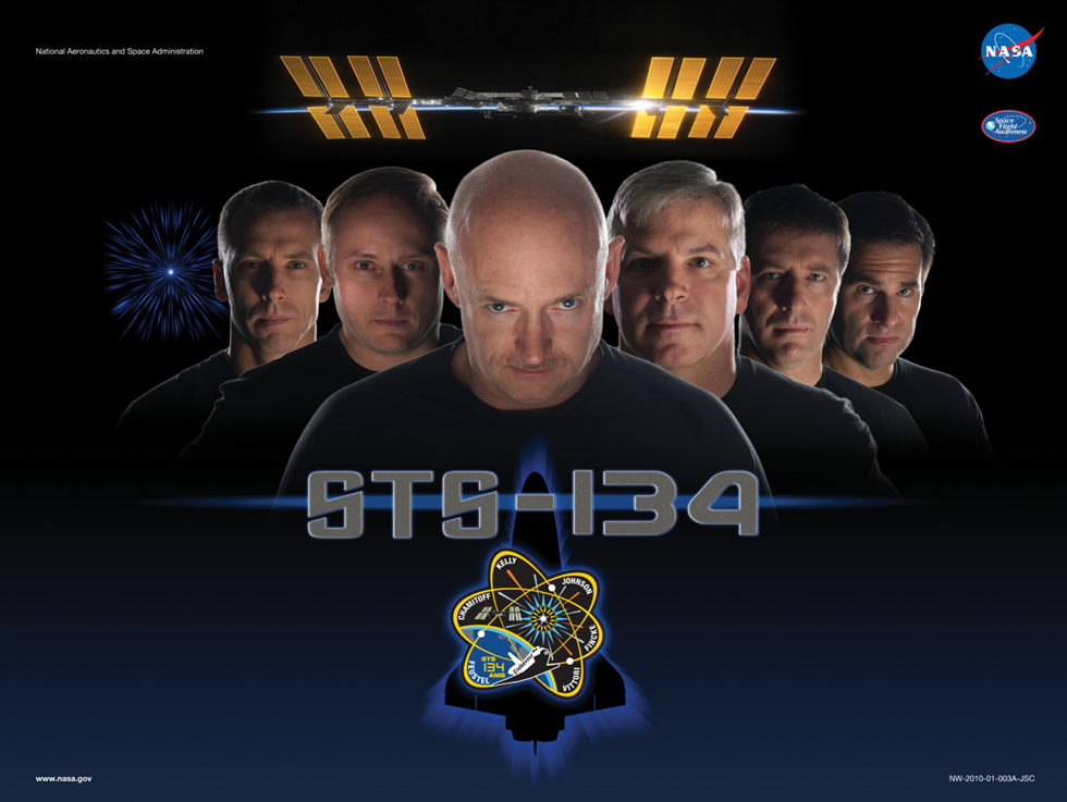 The SFA poster for the STS-134 crew of Space Shuttle Endeavour. Image Credit: NASA