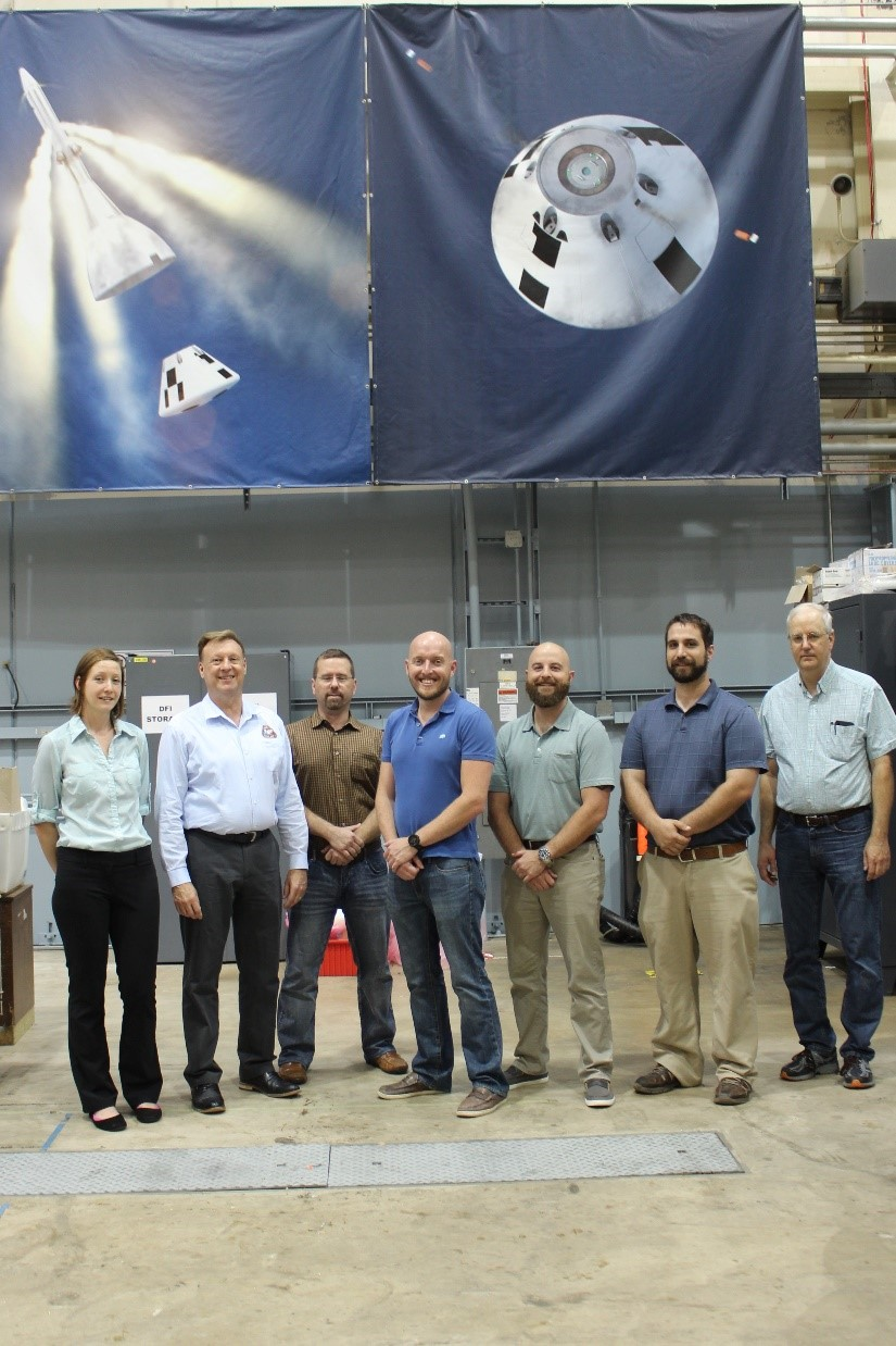 Current EDR team members, from left: Paolina Povolotskaya, David Petri, Lance Oelke, Josh Wilkins, Michael Grace, Michael Burlone and Jeff Hagen. Not pictured: Kristina Rojdev, Lucas Moxey, Rosa Obregon, Eric Vineyard and Andrzej Jackowski. Image Credit: NASA