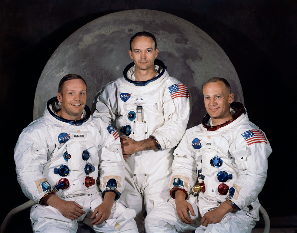 From left, the Apollo 11 crew of Neil Armstrong, Michael Collins and Buzz Aldrin. Image Credit: NASA
