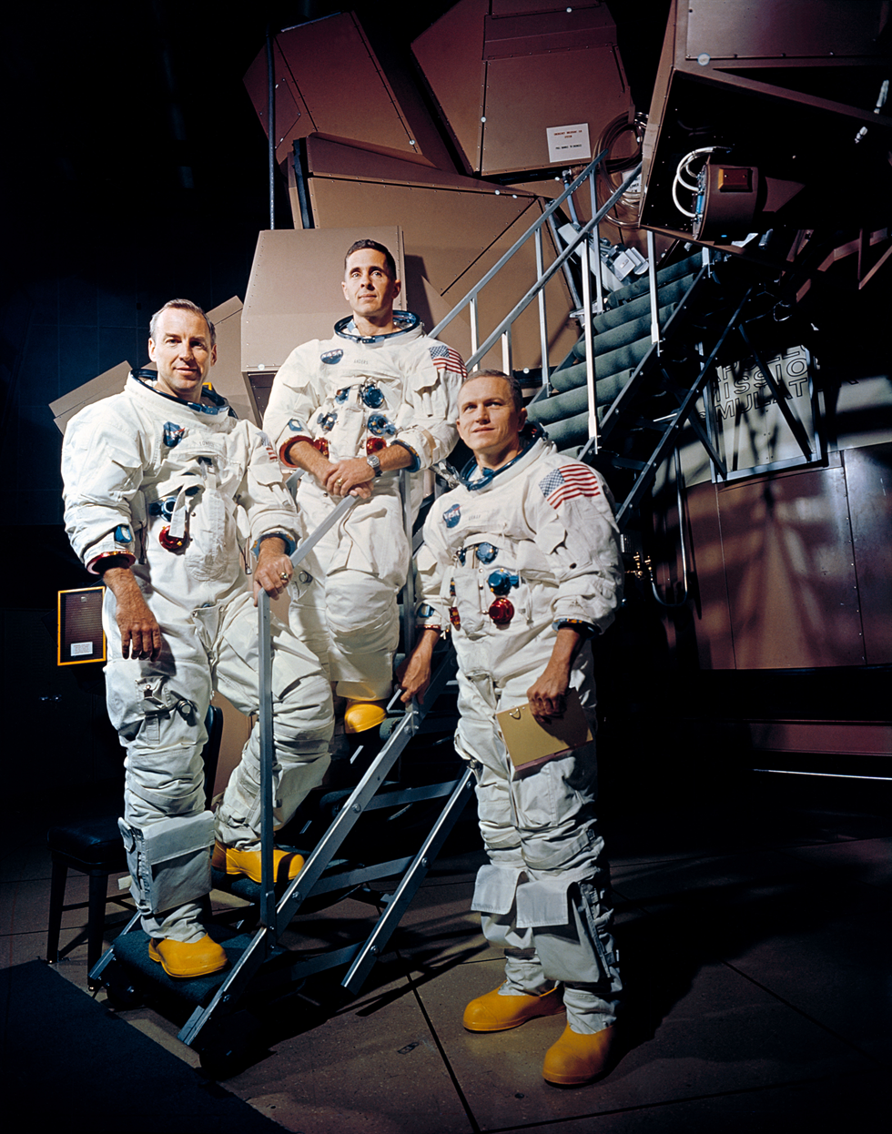 The prime crew of Apollo 8. From left: James A. Lovell Jr., command module pilot; William A. Anders, lunar module pilot; and Frank Borman, commander. Image Credit: NASA