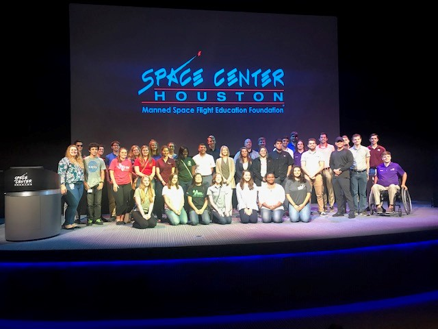 After the panel event, summer interns gather for a group photo. Image Credit: NASA