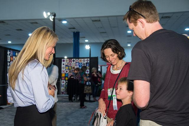 Nyberg interacts with crafters and fans of all ages. Image Credit: NASA/Lauren Harnett