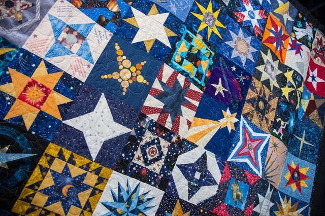The beauty of the quilt is magnified by the uniqueness of each contributed square. Image Credit: NASA/Lauren Harnett