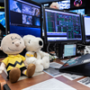 Snoopy and Charlie Brown in Mission Control.
